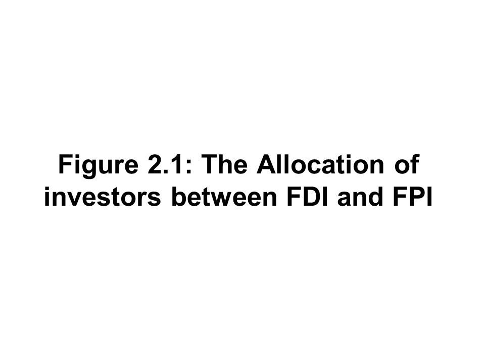 Figure 2.1: The Allocation of investors between FDI and FPI