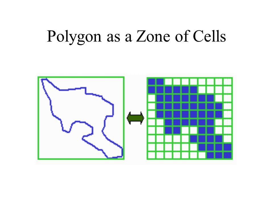 Polygon as a Zone of Cells