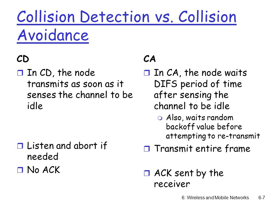 Collision Detection vs.