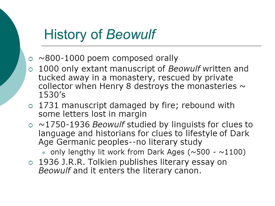 essay on beowulf poem Read this essay on beowulf compare the movie and poem come browse our large digital warehouse of free sample essays get the knowledge you need in order to pass your classes and more.