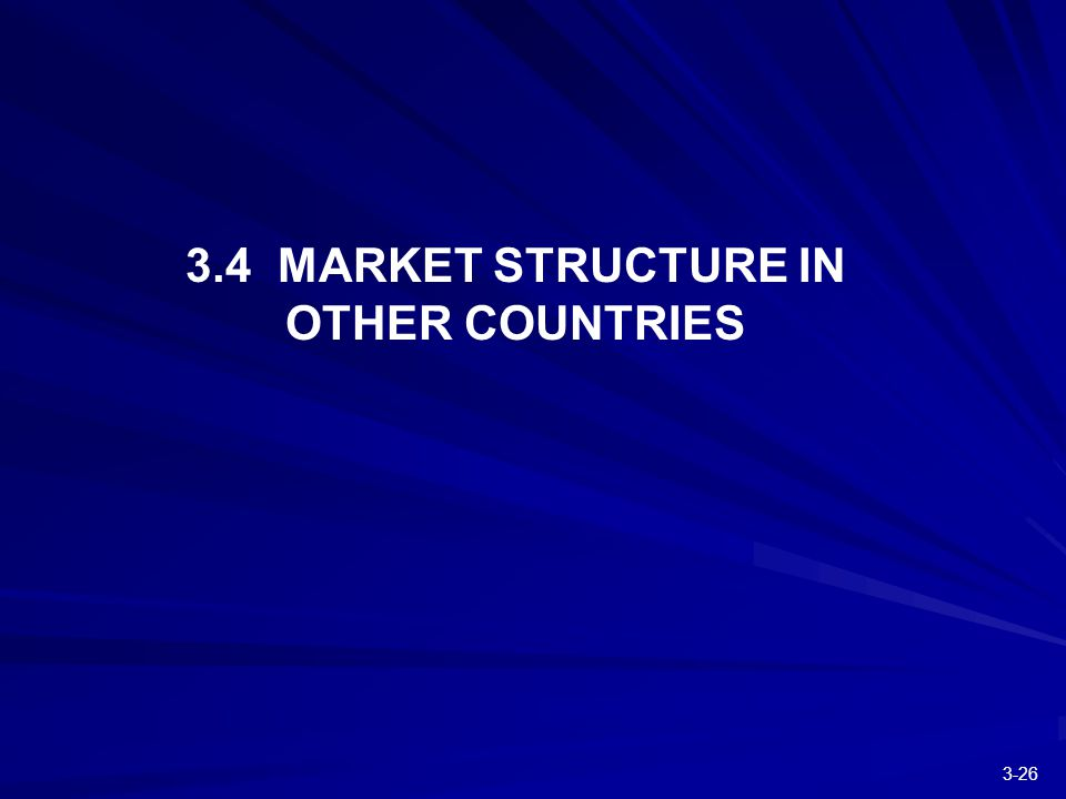 MARKET STRUCTURE IN OTHER COUNTRIES