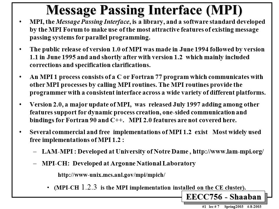 develop mpi essay Free implementation plan for vap papers, essays  today the leading hpc programming model is message passing interface powerful essays: developing a.