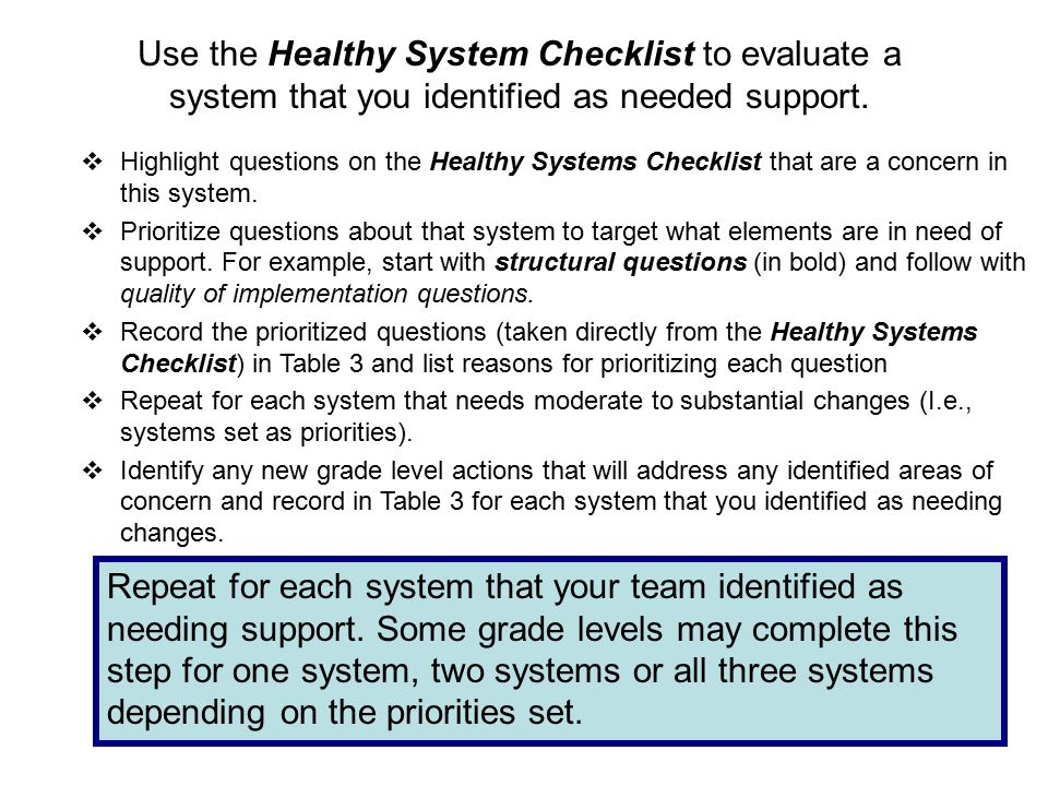 Oregon Reading First (2009)23  Highlight questions on the Healthy Systems Checklist that are a concern in this system.