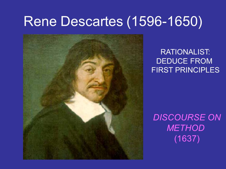 deducing from the reasoning of rene descartes