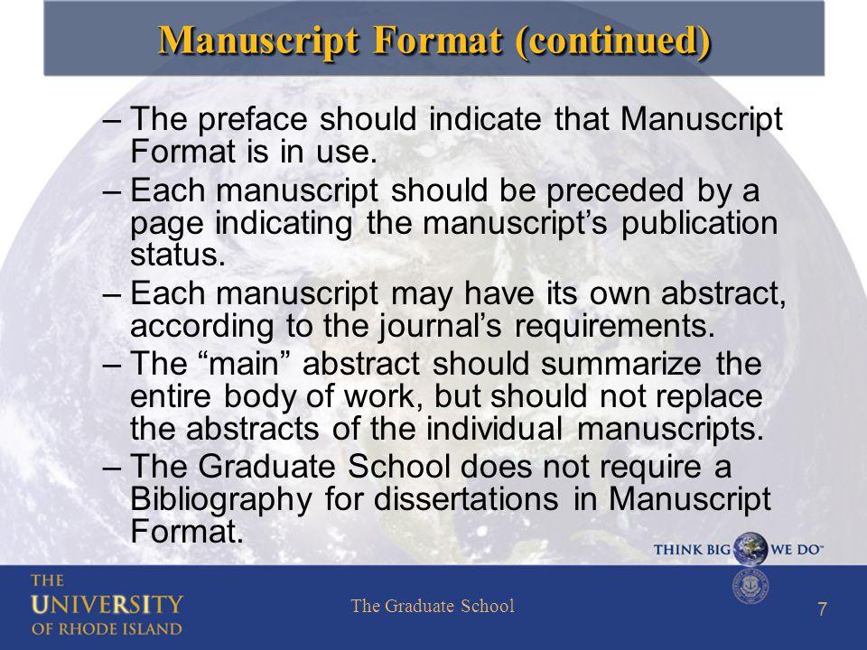 preface phd dissertation