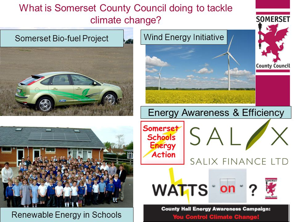 What is Somerset County Council doing to tackle climate change.