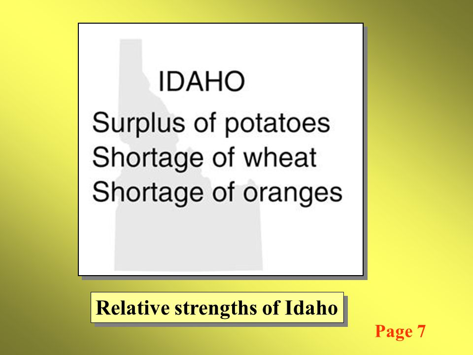 Relative strengths of Idaho Page 7
