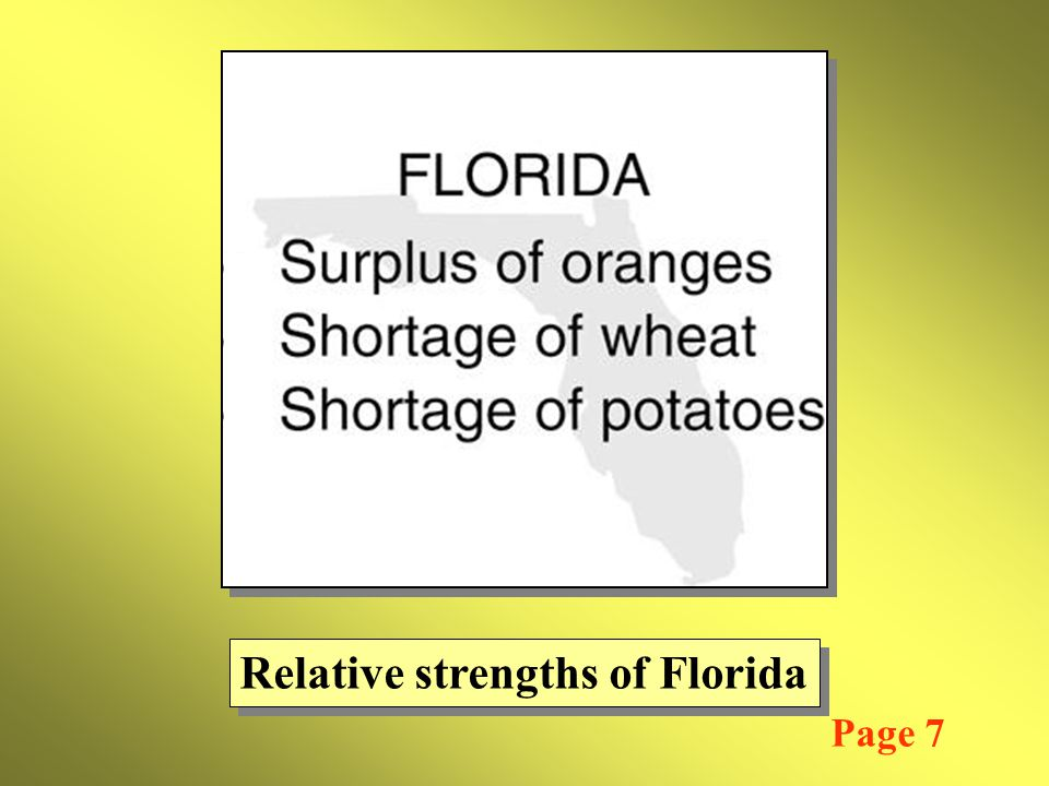 Relative strengths of Florida Page 7