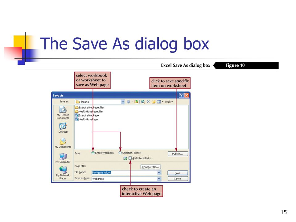15 The Save As dialog box
