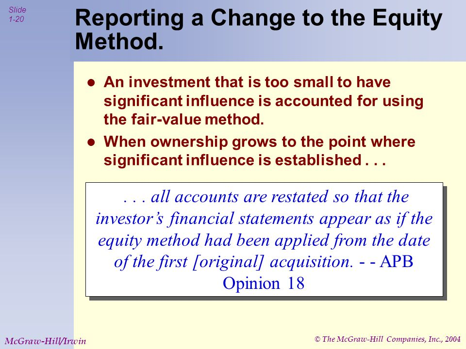 © The McGraw-Hill Companies, Inc., 2004 Slide 1-20 McGraw-Hill/Irwin .