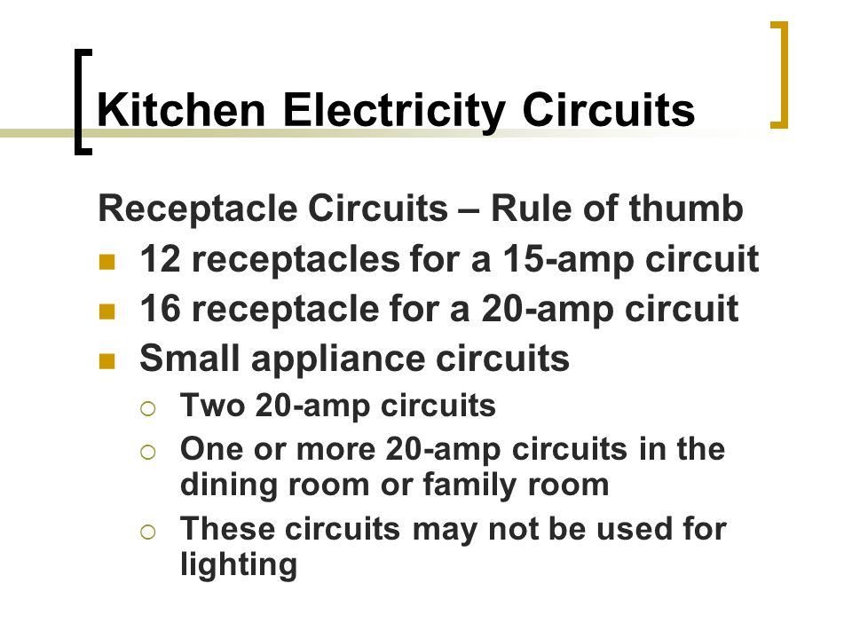 ELECTRICITY For Kitchens Baths Electricity Amber