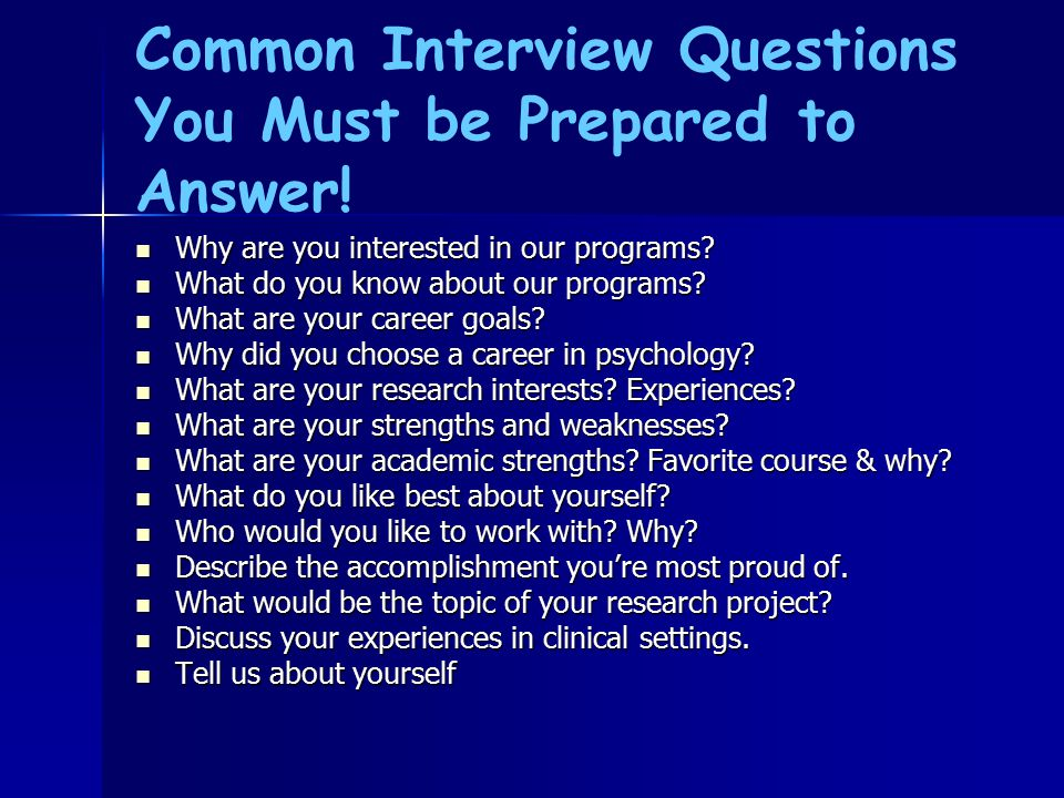 common interview questions you must be prepared to answer - Why Did You Choose This Career Interview Questions And Answers