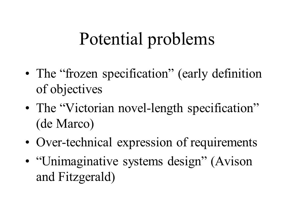 Information Systems Development Lecture 2: the idea of the Life ...