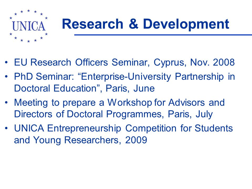 Research & Development EU Research Officers Seminar, Cyprus, Nov.