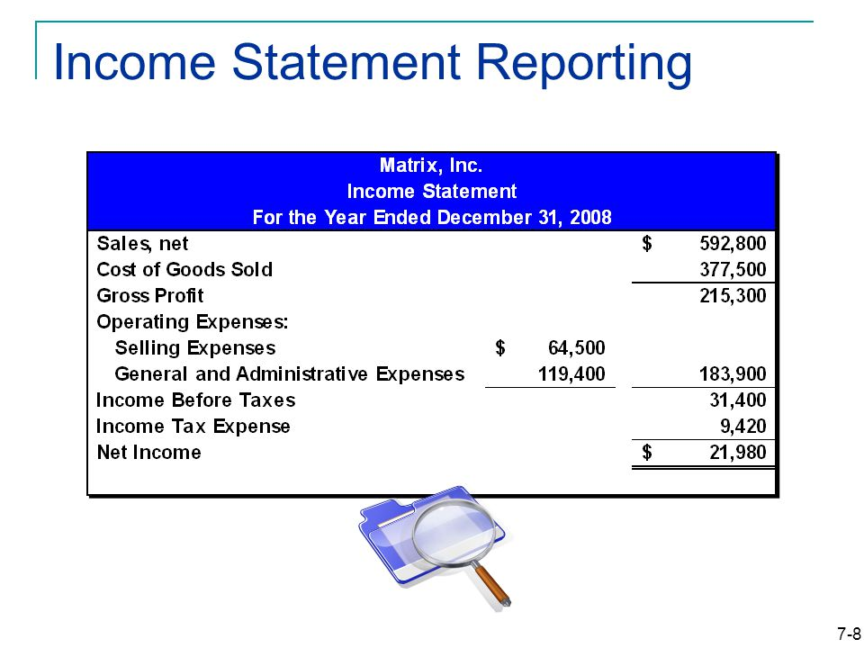 7-8 Income Statement Reporting