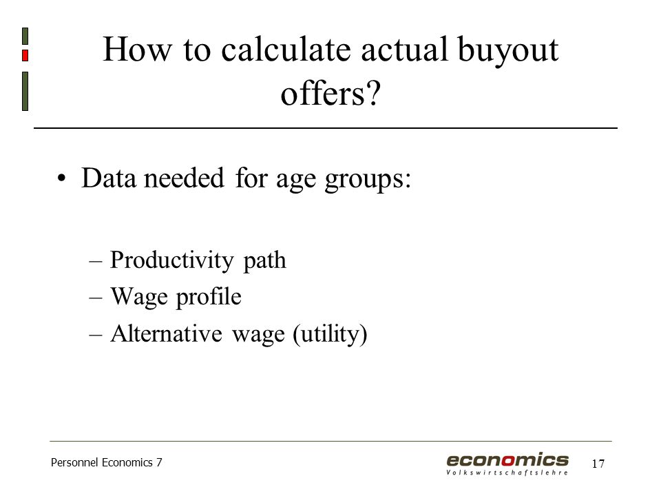 Personnel Economics 7 17 How to calculate actual buyout offers.