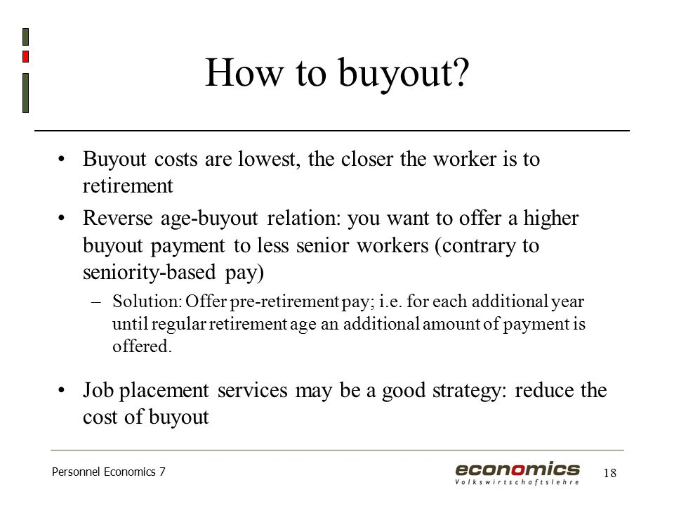Personnel Economics 7 18 How to buyout.