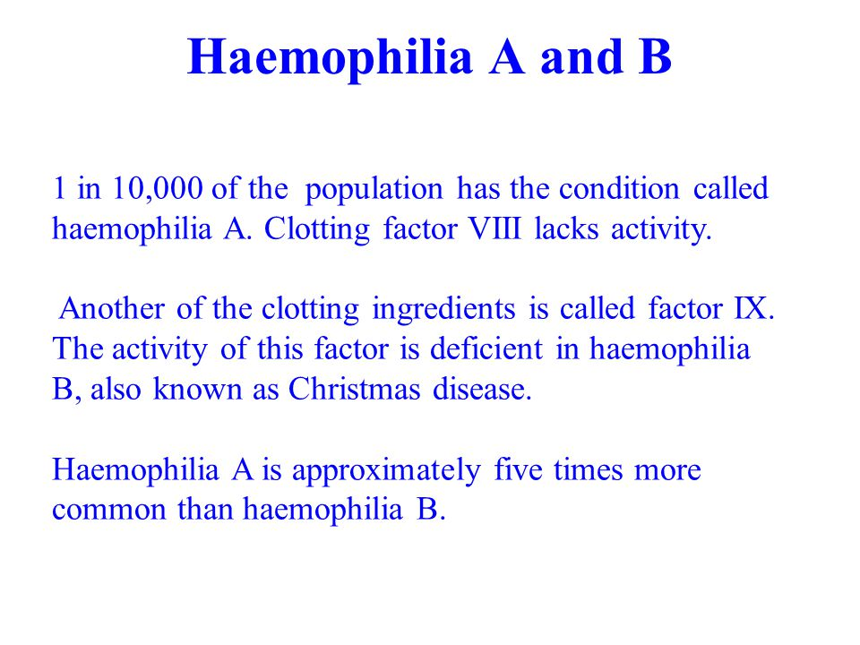 An Introduction to Haemophilia and related bleeding disorders M ...