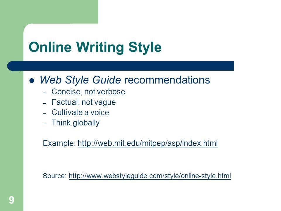 Verbose writing style?