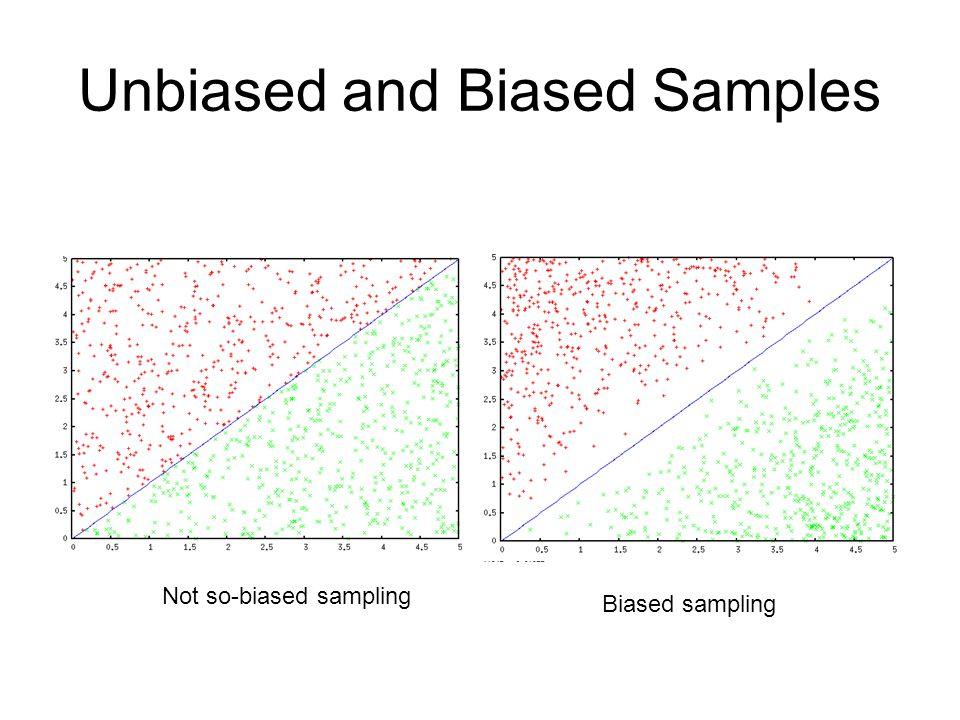 Unbiased and Biased Samples Not so-biased sampling Biased sampling