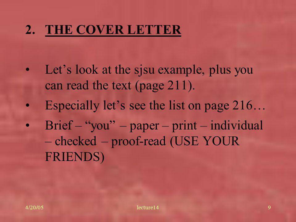 cover letter sjsu cover letter sjsu
