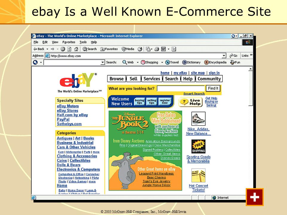 ebay Is a Well Known E-Commerce Site © 2003 McGraw-Hill Companies, Inc., McGraw-Hill/Irwin +