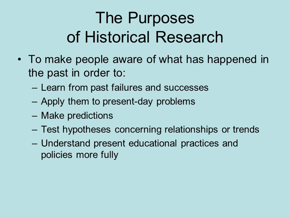What is the order of a research?