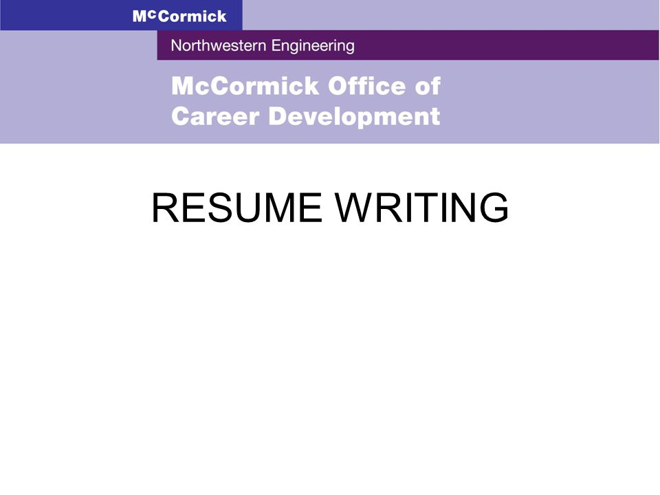 Resume Writing. Objectives Understand The Purpose Of A Resume