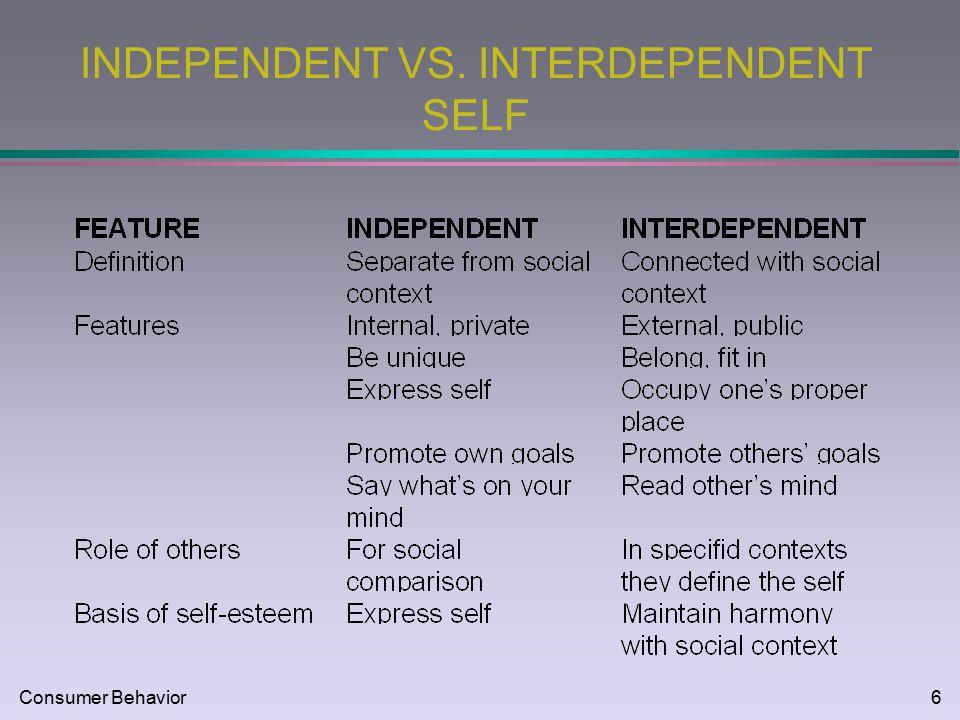 Consumer behavior1 cultural influences mkt consumer behavior2 6 consumer behavior6 independent vs interdependent self malvernweather Images