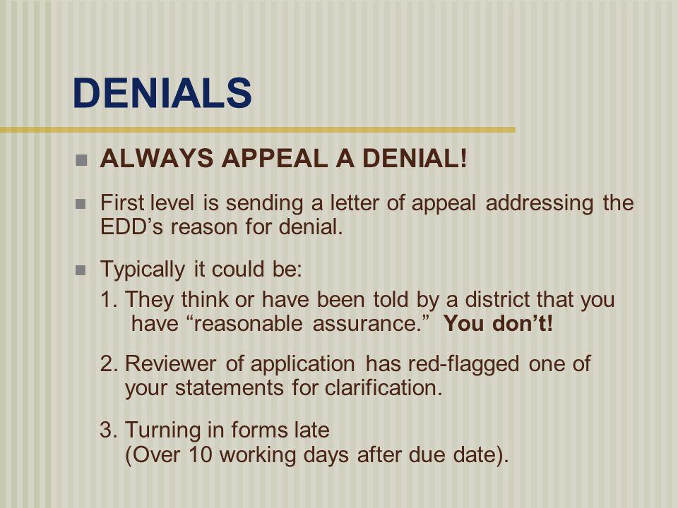 edd appeal letter
