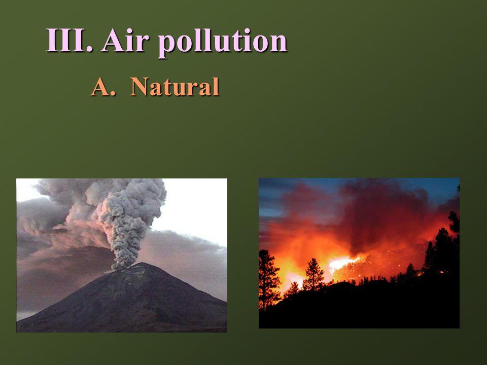 III. Air pollution A.Natural
