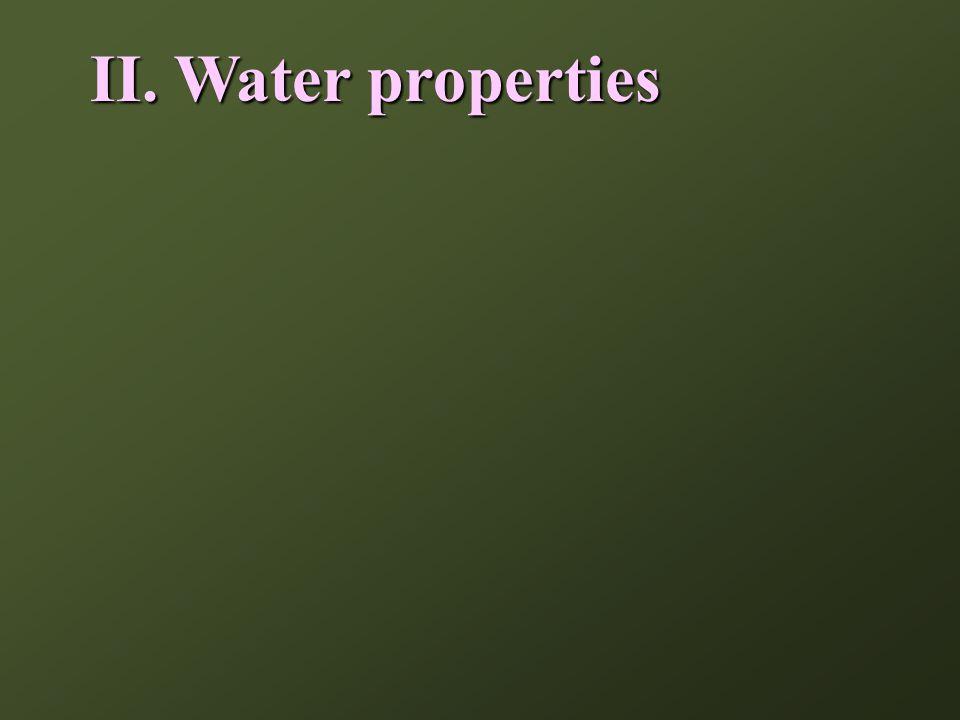 II.Water properties