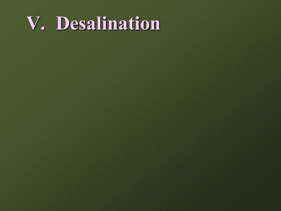 V. Desalination