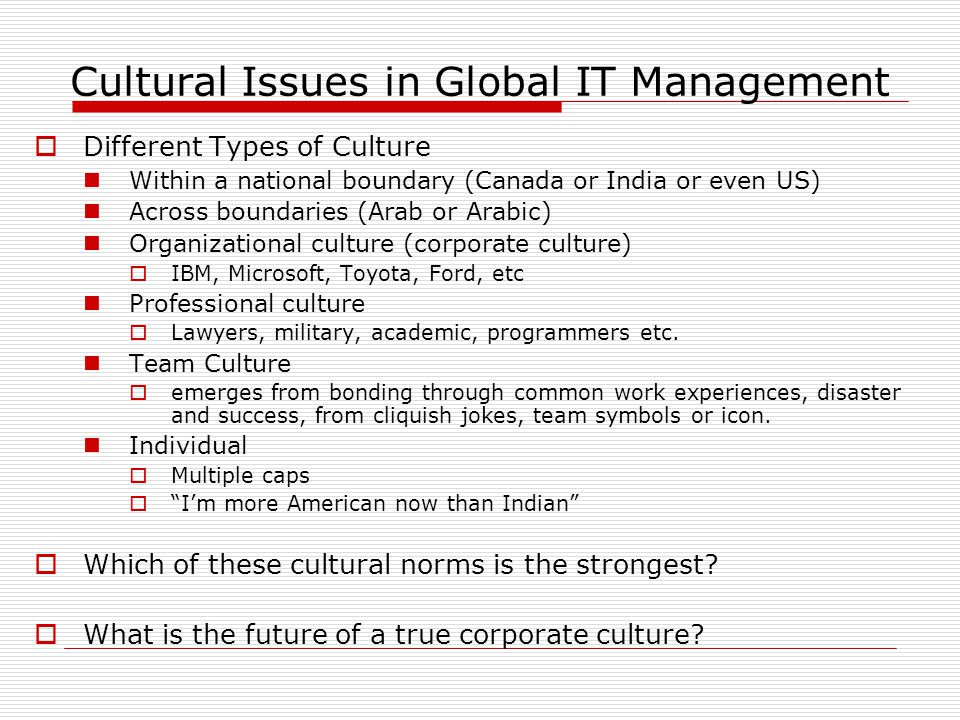 """What is culture  Culture """"culture provides members with images ..."""