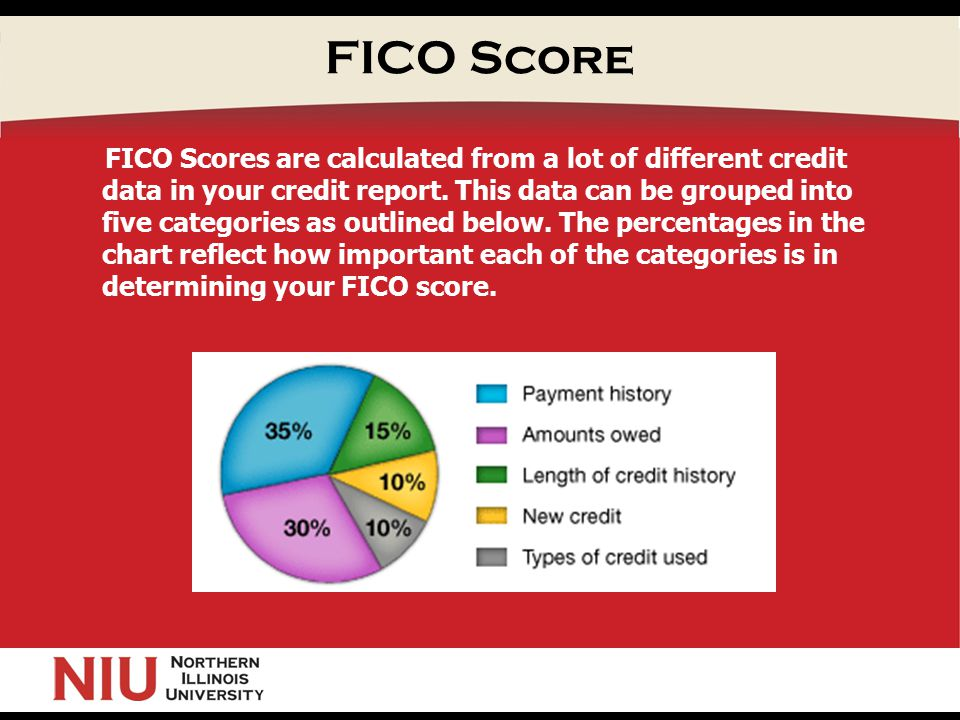 FICO Score FICO Scores are calculated from a lot of different credit data in your credit report.