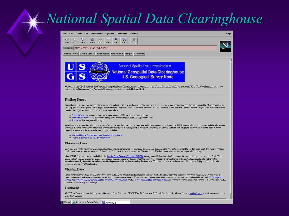 National Spatial Data Clearinghouse