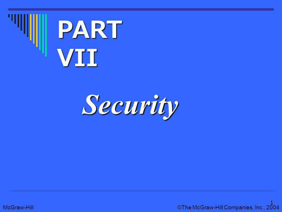 McGraw-Hill©The McGraw-Hill Companies, Inc., Security PART VII