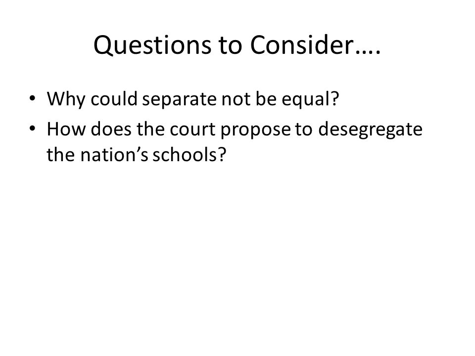 Can separate be equal?why?