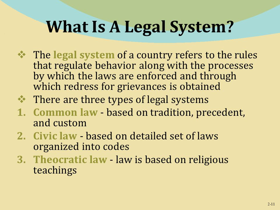 2-11 What Is A Legal System.