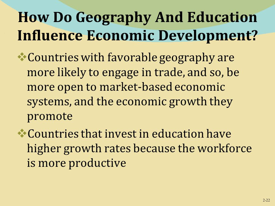 2-22 How Do Geography And Education Influence Economic Development.