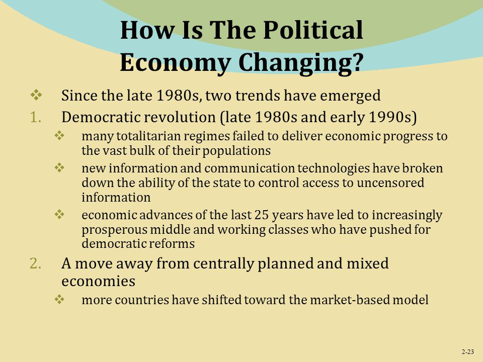 2-23 How Is The Political Economy Changing.