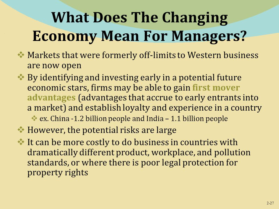 2-27 What Does The Changing Economy Mean For Managers.