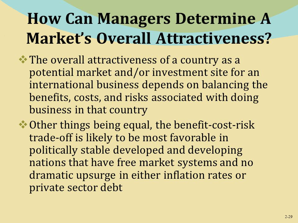2-29 How Can Managers Determine A Market's Overall Attractiveness.