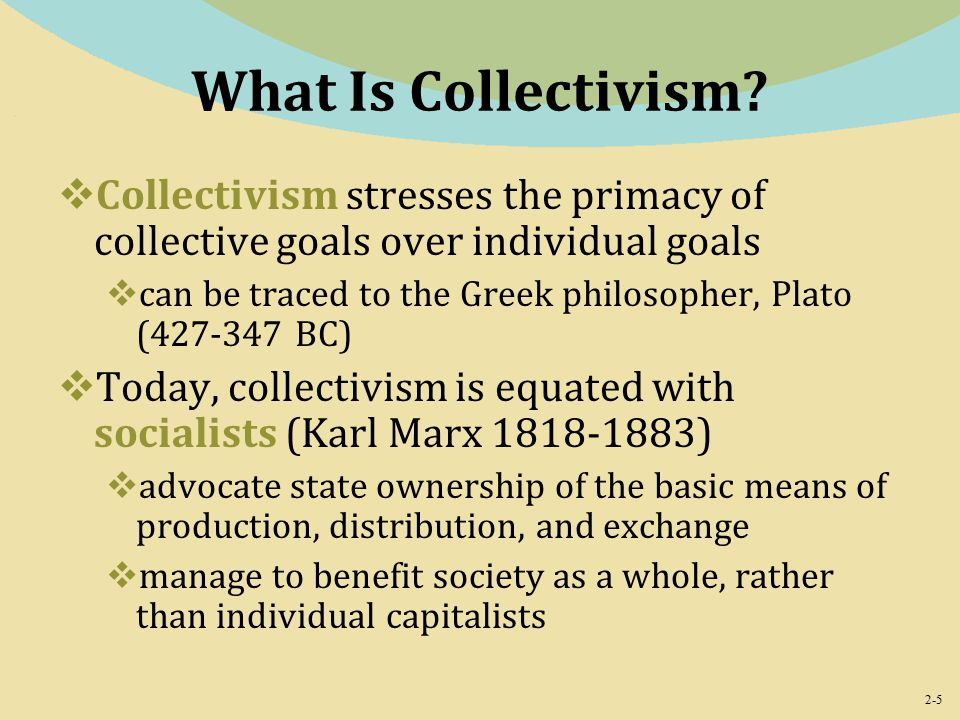 2-5 What Is Collectivism.