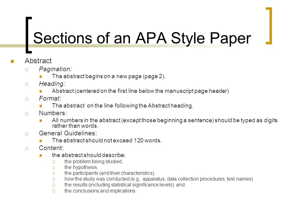 Abstract Apa