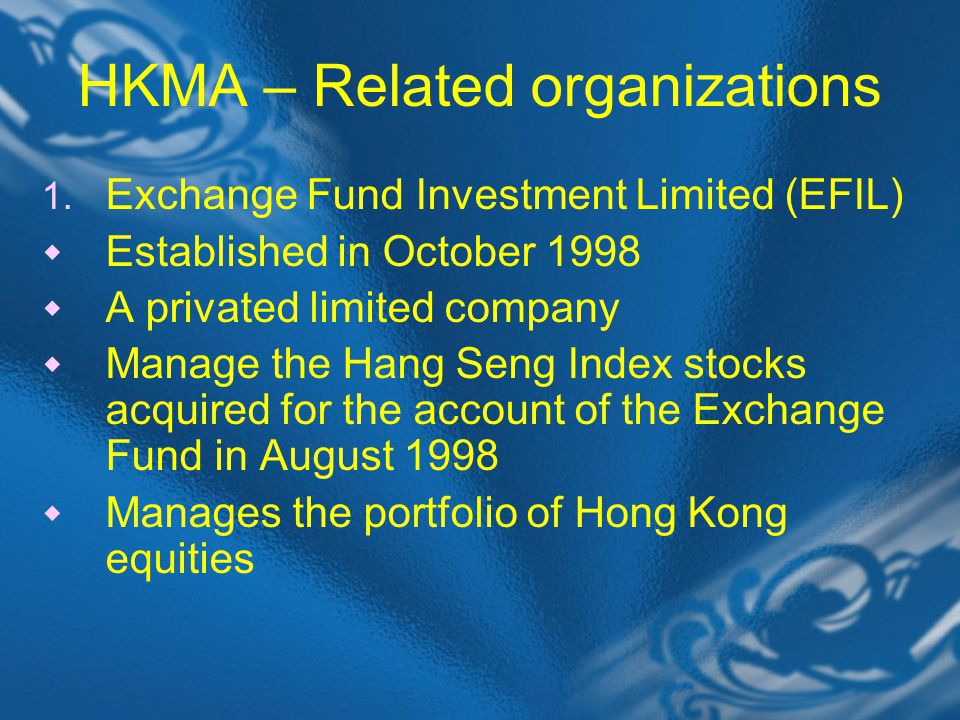HKMA – Related organizations 1.