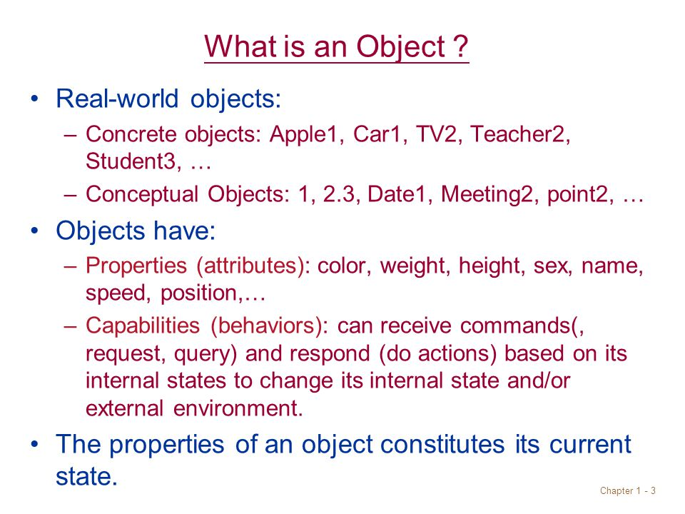 Chapter What is an Object .