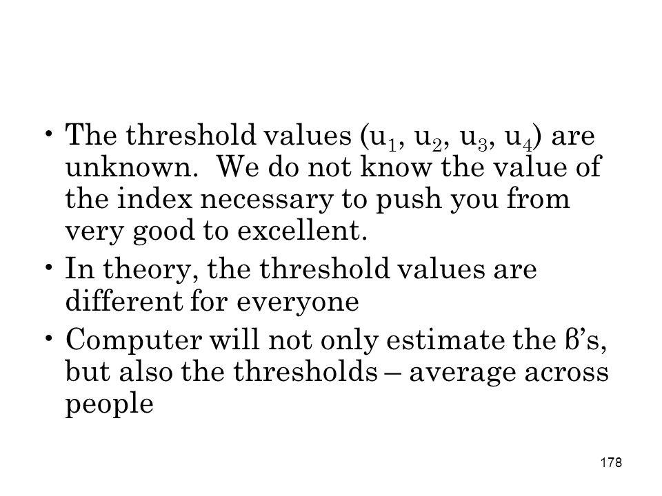 178 The threshold values (u 1, u 2, u 3, u 4 ) are unknown.