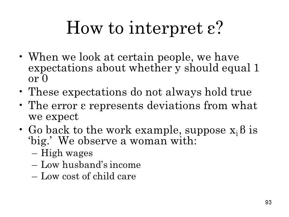 93 How to interpret ε.