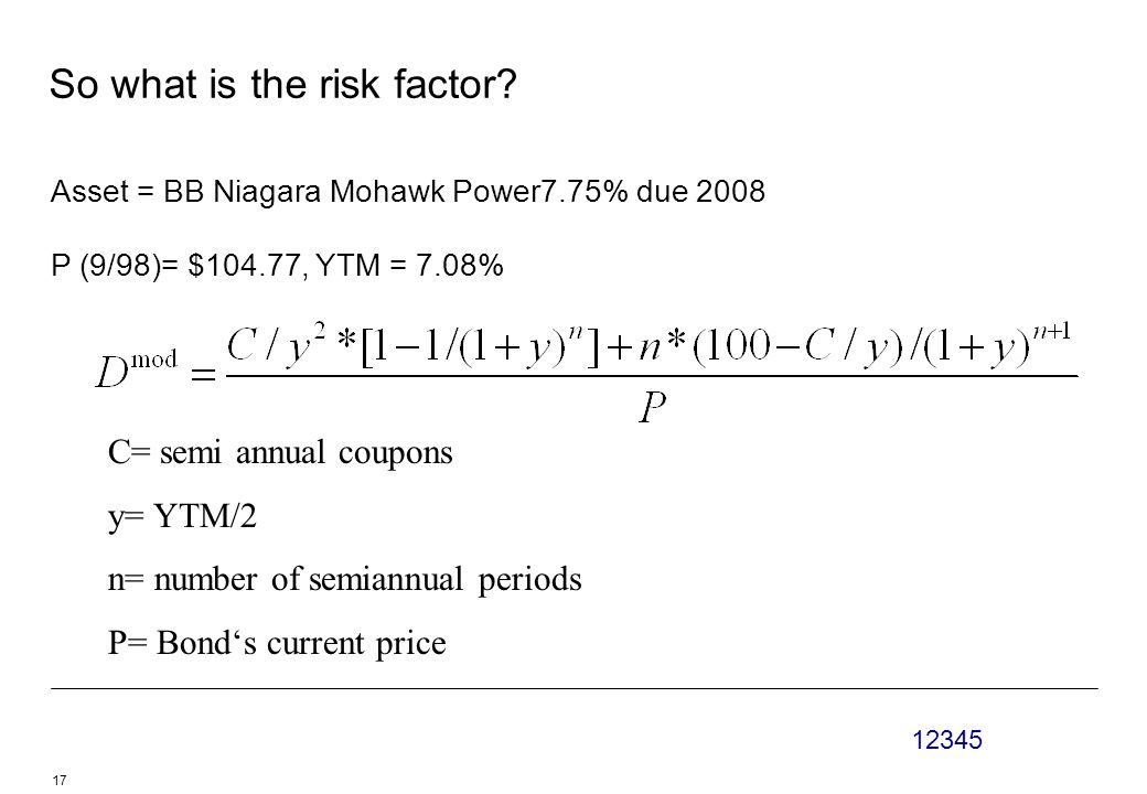 So what is the risk factor.